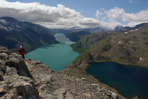 The two lakes from Besseggen